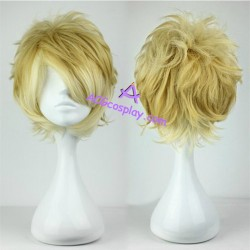 DIABOLIK LOVERS Sakamaki Shu cosplay wig short wig mixed color