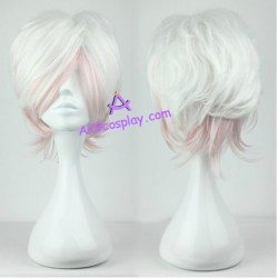 Diabolik Lovers Sakamaki Subaru cosplay wig mixed color short wig