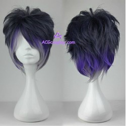 Diabolik Lovers Cosplay Sakamaki Reiji mixed color short wig