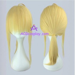 Fate zero saber cosplay wig 45cm 18inches