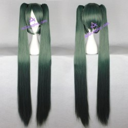 Volcaloid Hatsune Miku cosplay wig 130cm 51inches dark green