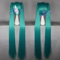 Volcaloid Hatsune Miku cosplay wig 130cm 51inches blue green