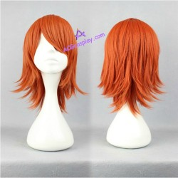 One piece Nami cosplay wig orange short wig