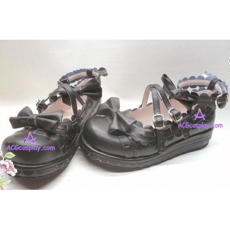 Lolita shoes boots black make to order style 1