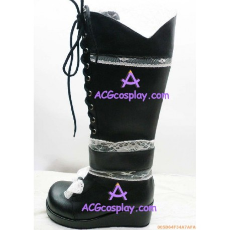 Lolita shoes boots black make to order style 9