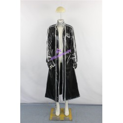 Sword Art Online Kirito cape Cosplay Costume shining faux leather made