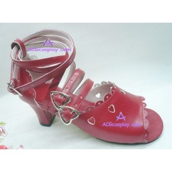 Lolita shoes boots red make to order style 6
