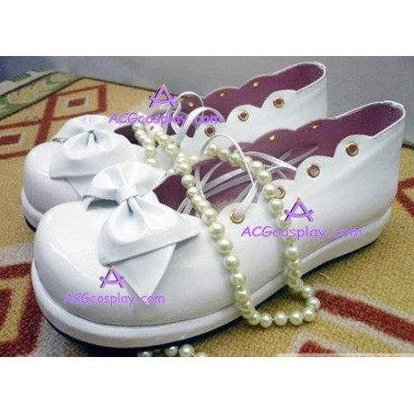 Lolita shoes boots white make to order style 10