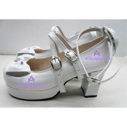 Lolita shoes boots white make to order style 12