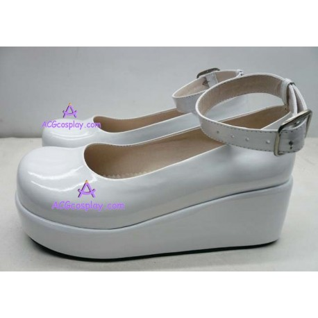 Lolita shoes boots white make to order style 15
