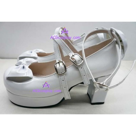 Lolita shoes boots white make to order style 16