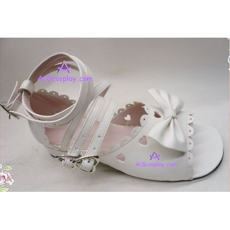 Lolita shoes boots white make to order style 3