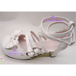 Lolita shoes boots white make to order style 5