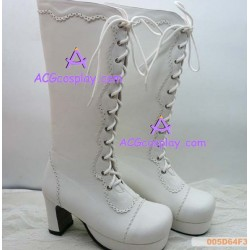 Lolita shoes boots white make to order style 8