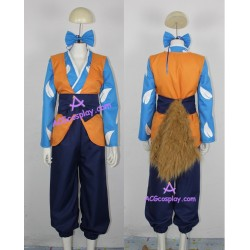 Inuyasha Shippou cosplay costume with big fur tail