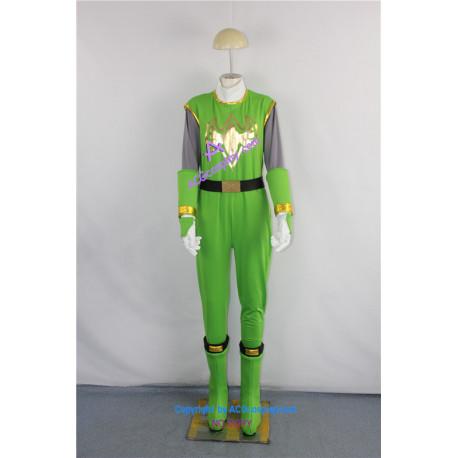 Power Rangers Ninja Storm Green Samurai Ranger Cosplay Costume