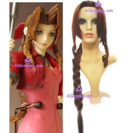 Final Fantasy Aeris Gainsborough long Cosplay Wig