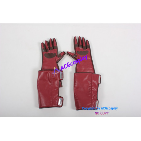 Marvel Comics Cosplay Props Captain America Gloves dark red
