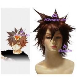 Katekyo Hitman Reborn! Tsunayoshi Sawada Commission Cosplay Wig