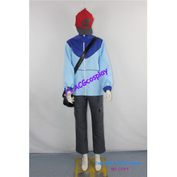 Pokemon Trainer Black Touya Cosplay Costume incl.bag and hat