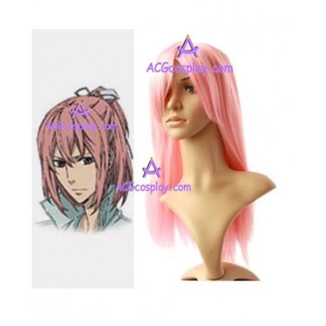 Nabari no Ou Raimei Shimizu Cosplay Wig pink long wig Nabari No Ou Raimei Cosplay