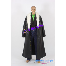 One Piece Crocodile Cosplay Costume faux leather made