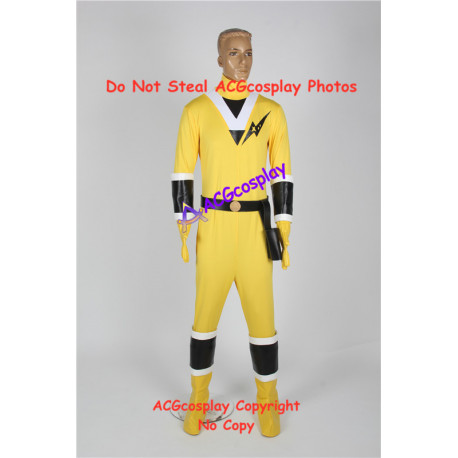 Power rangers Mighty Morphin Alien Rangers Yellow Ranger cosplay costume