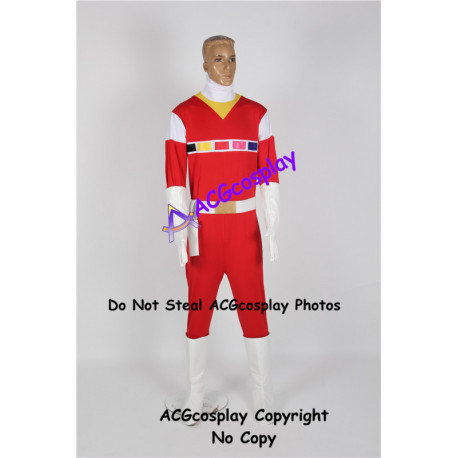 Power Rangers in Space Andros Red Space Ranger Cosplay Costume