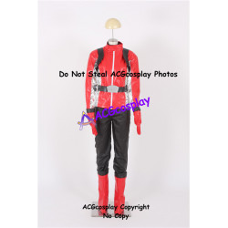 Tokumei Sentai Go Buster Sakurada Hiromu Red Buster Cosplay Costume faux leather made