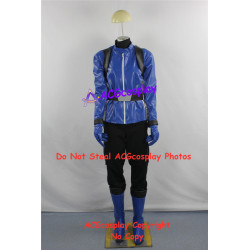 Tokumei Sentai Go Buster Iwaskai Ryuuji Blue Buster cosplay costume faux leather made