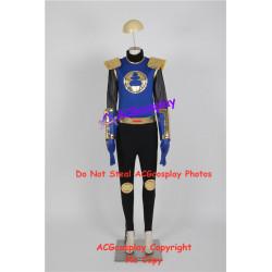 Power rangers Ninja Storm Blake Bradley Navy Thunder Ranger cosplay costume