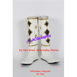Power Rangers White Ninjetti Ranger Cosplay Shoes boots ACGcosplay
