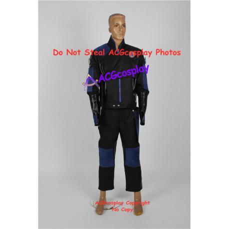 Power Rangers navy ninja ranger Blake Bradley Navy Thunder Ranger cosplay costume ACGcosplay