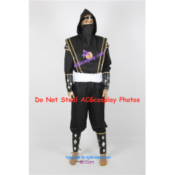 Power Rangers Black Ninjetti Ranger Cosplay Costume