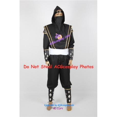 Power Rangers Black Ninjetti Ranger Cosplay Costume