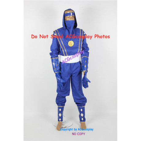 Power Rangers Blue Ninjetti Ranger Cosplay Costume ACGcosplay