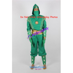 Power Rangers Green Ninjetti Ninja Ranger Cosplay Costume ACGcosplay