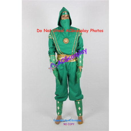 Power Rangers Green Ninjetti NinjaRanger Cosplay Costume ACGcosplay