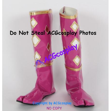 Mighty Morphin Power Rangers Pink Ninjetti Ninja Ranger Cosplay shoes boots