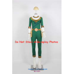 Power Rangers Zeo Green Zeo Ranger Cosplay Costume