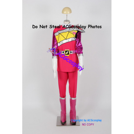 Power Rangers Dino Charge Kyoryuger Pink Ranger Cosplay Costume