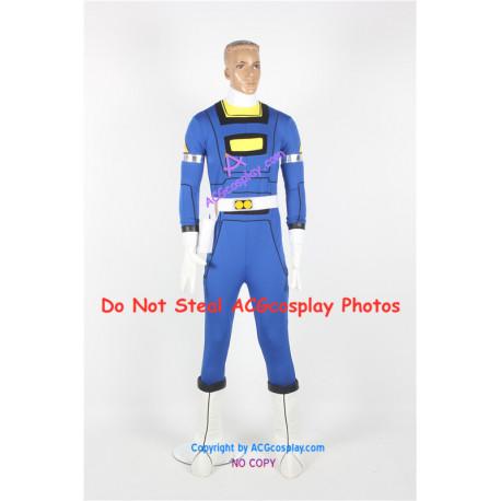 Power Rangers Turbo Blue Turbo Ranger Cosplay Costume