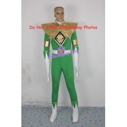 Power Rangers Green Ranger Cosplay Costume light green version