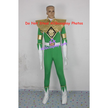 Power Rangers Green Ranger Cosplay Costume light green version