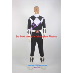 Mighty Morphin Power Rangers Black Ranger Cosplay Costume