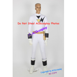 Power rangers Tsuruhime ninja white ranger Kaku ranger cosplay costume acgcosplay