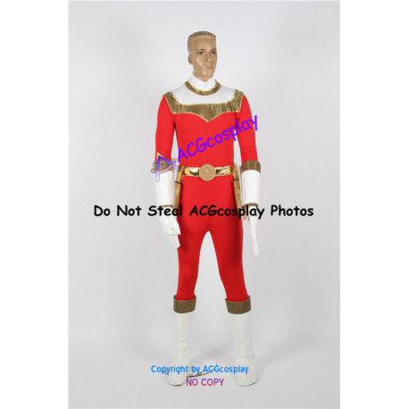 Power Rangers Zeo Red Ranger Cosplay Costume