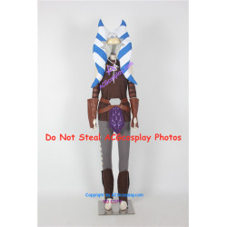 Star Wars Clone Wars Ahsoka Tano Cosplay Costume include headwear