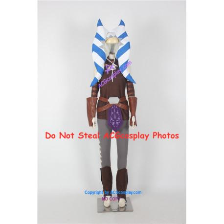 Star Wars Clone Wars Ahsoka Tano Cosplay Costume include headwear