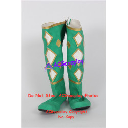 Power Rangers Green Ninjetti Ranger Cosplay Shoes boots none split toe
